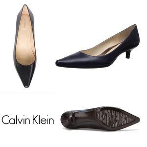 Brown Calvin Klein Diema Kitten Heel